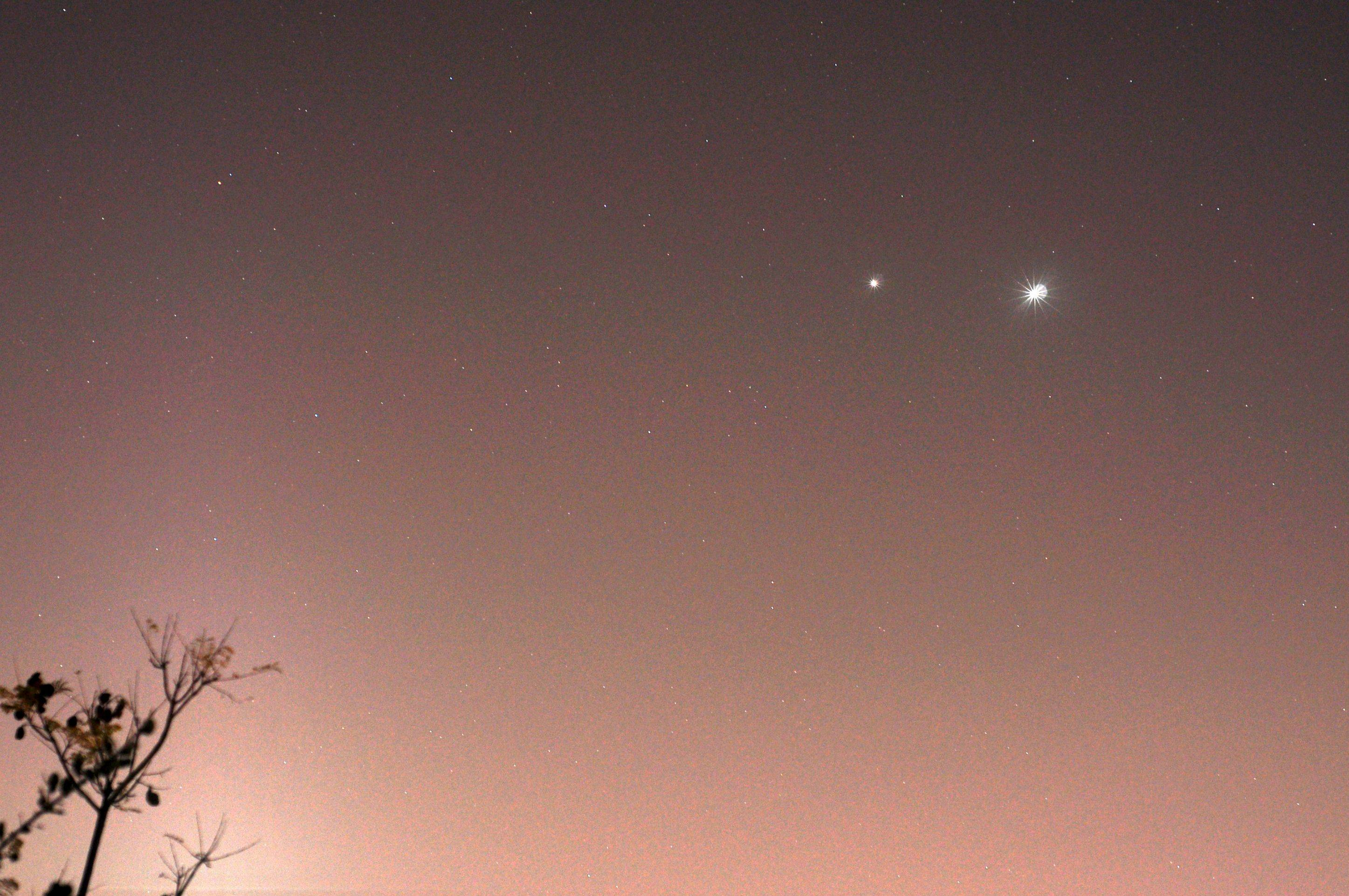 Dazzling Venus and Jupiter