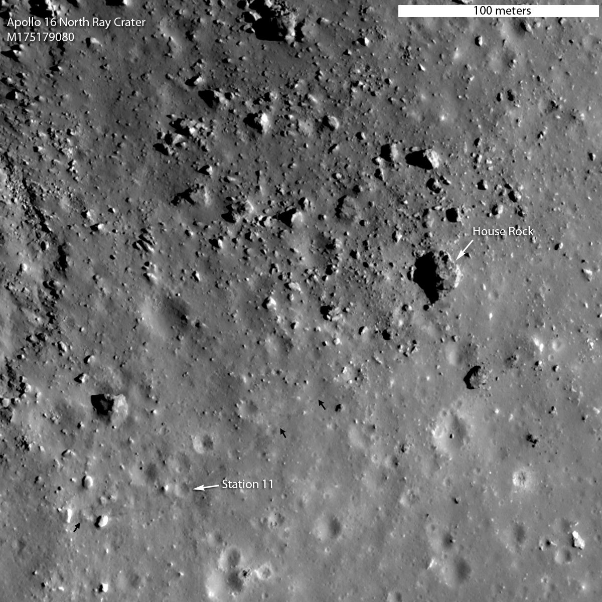 Apollo 16: Moon's North Ray Crater