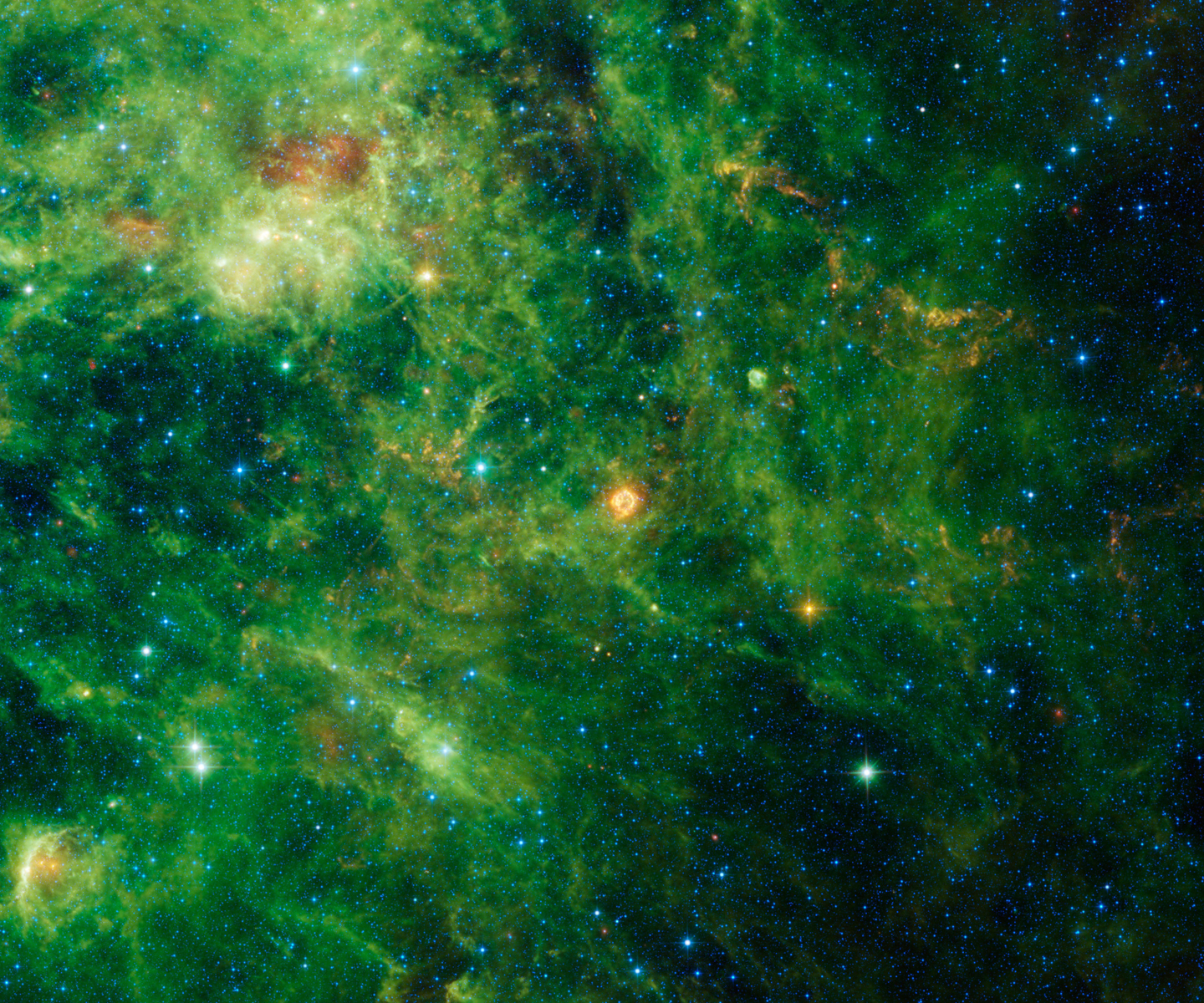 Supernova Cassiopeia A Seen by WISE