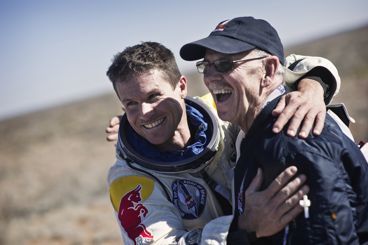 Baumgartner and Todd Celebtrate