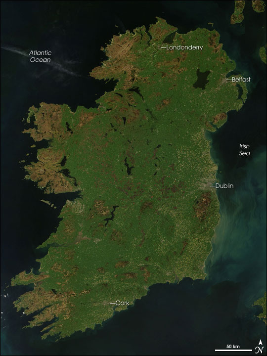 Emerald Isle: Ireland from Space