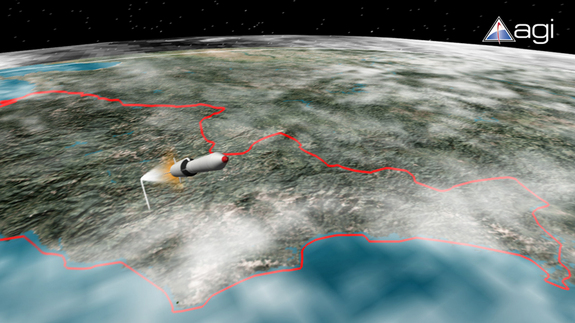 Illustration of North Korea's attempt to loft an experimental satellite to Earth orbit in 2009. North Korean officials claim success, but Western observers say the effort failed.