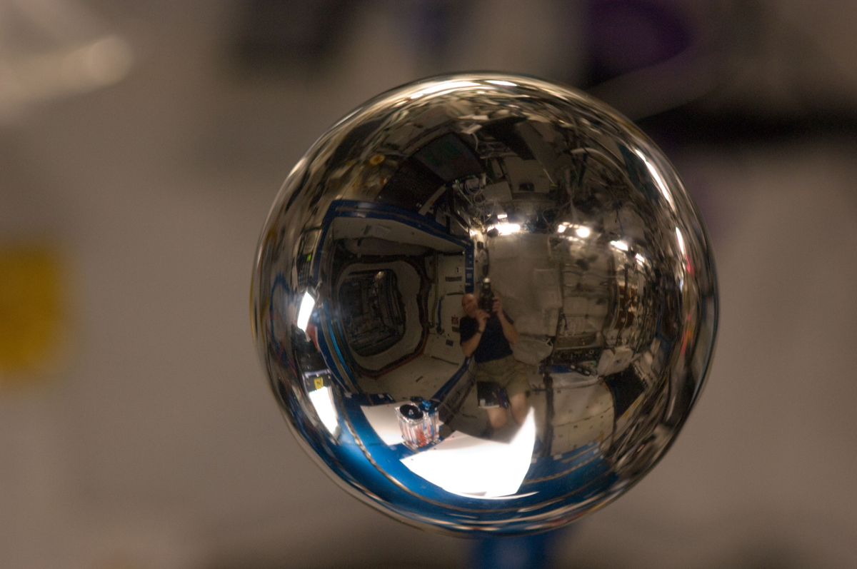 Metal Sphere in the ISS