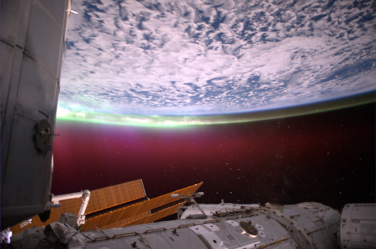 The Southern Aurora from the ISS