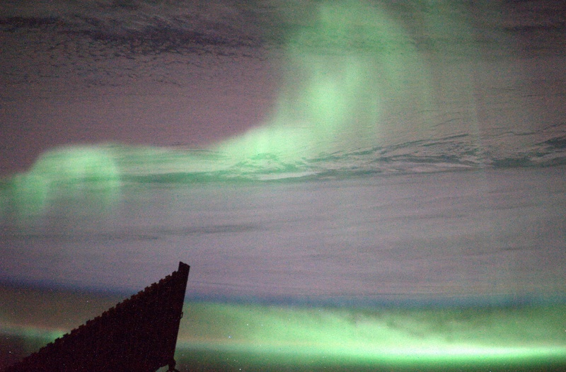 Southern Aurora from the ISS