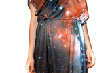 A dress by Shadowplay NYC features a Hubble Space Telescope image.