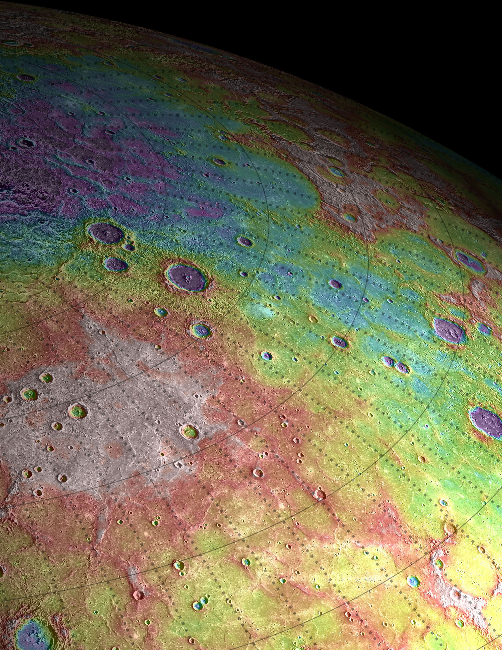 A View of Mercury's High Northern Plains
