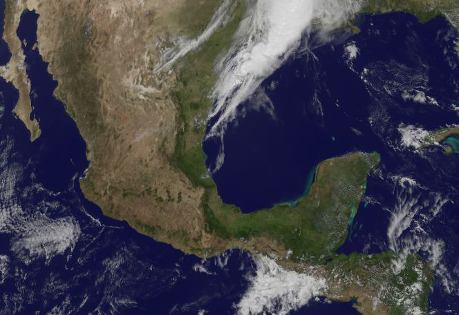 Mexico Earthquake Zone Spotted in Satellite Photo