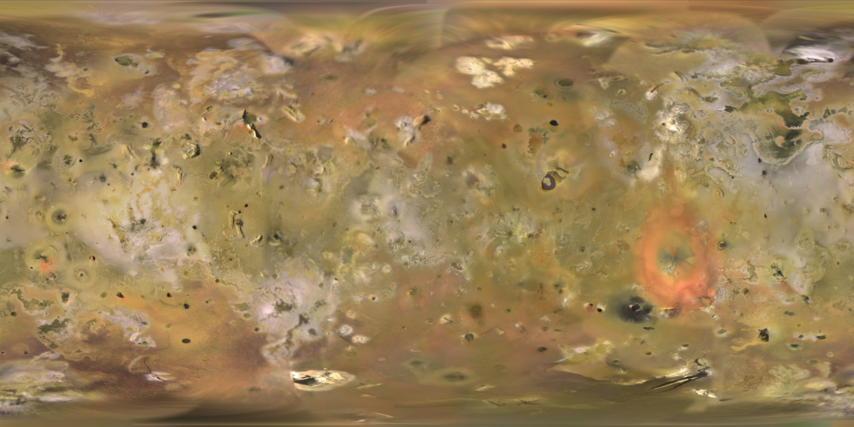 First Global Map of Io, Jupiter's Volcano Moon