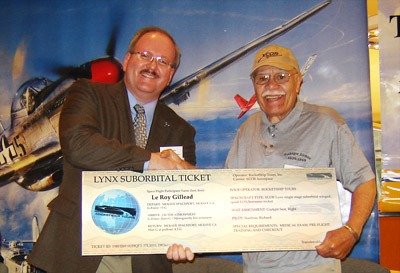 Tuskegee Airman Le Roy Gillead Wins Free Ride to Suborbital Space
