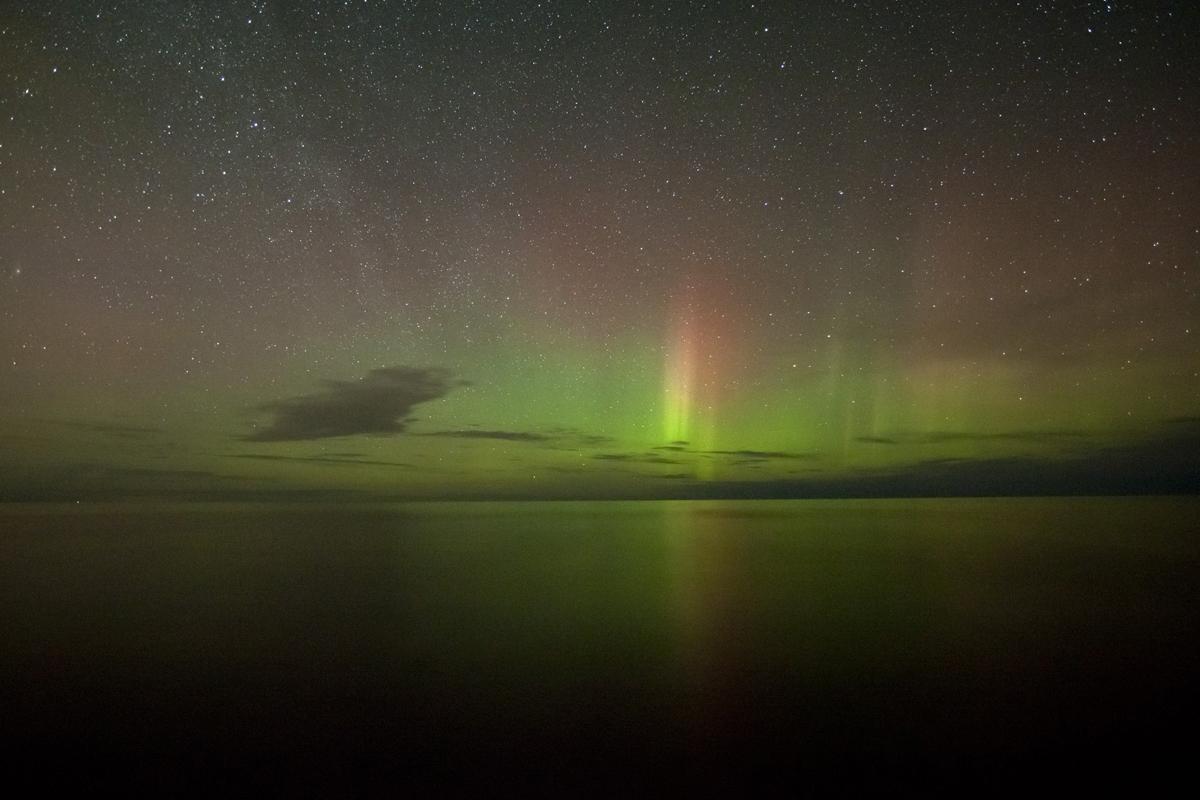 Aurora over Lake Superior, Marquette, MI