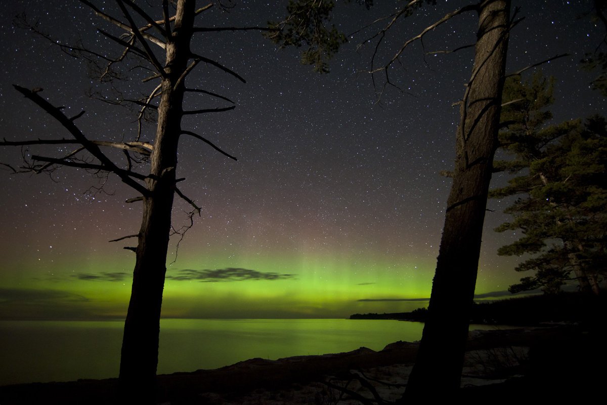 Aurora over Lake Superior, Alger County, MI