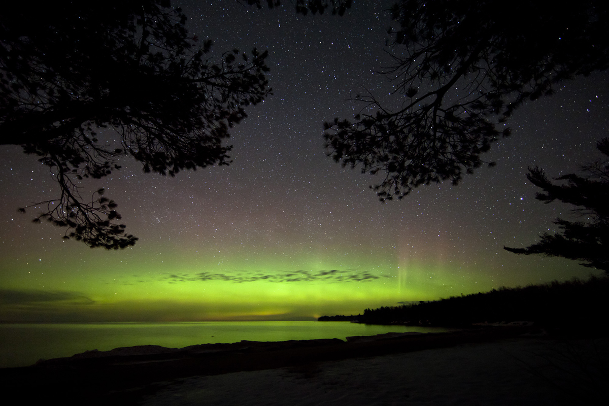 Aurora over Lake Superior, Alger County, MI #2