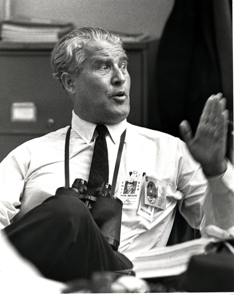 Dr. Wernher von Braun Following Apollo 11 Launch