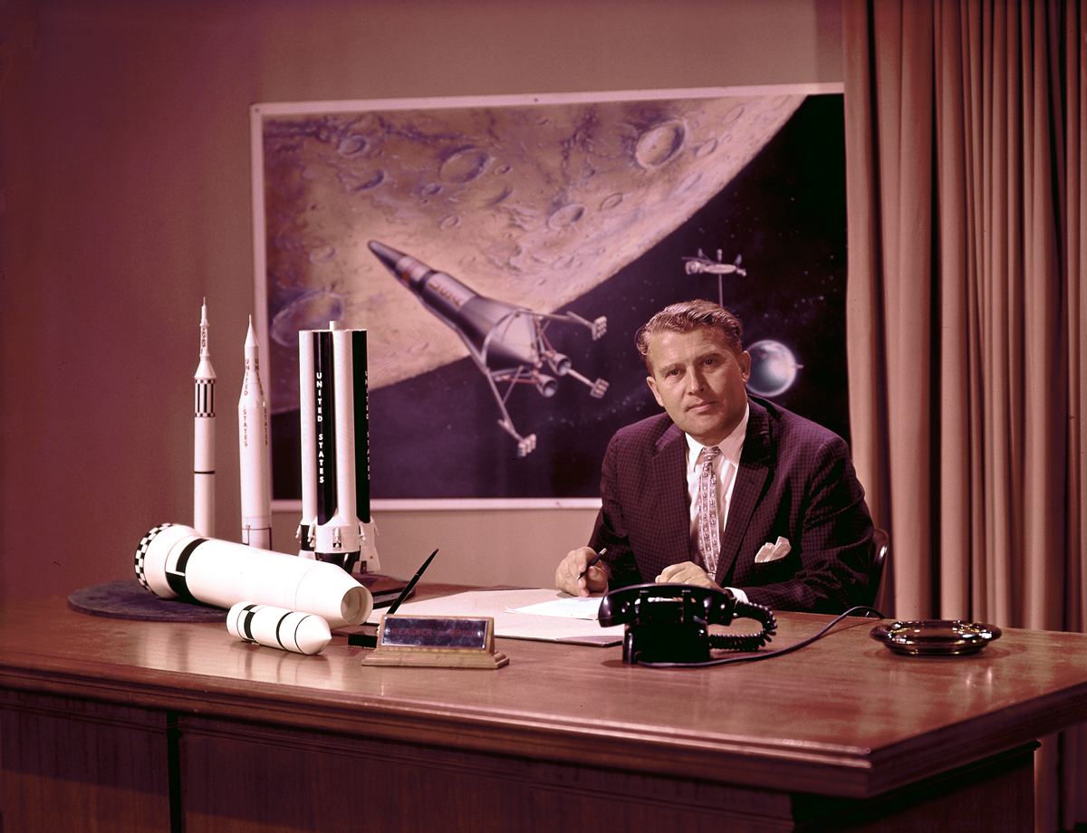 Dr. von Braun at His Desk