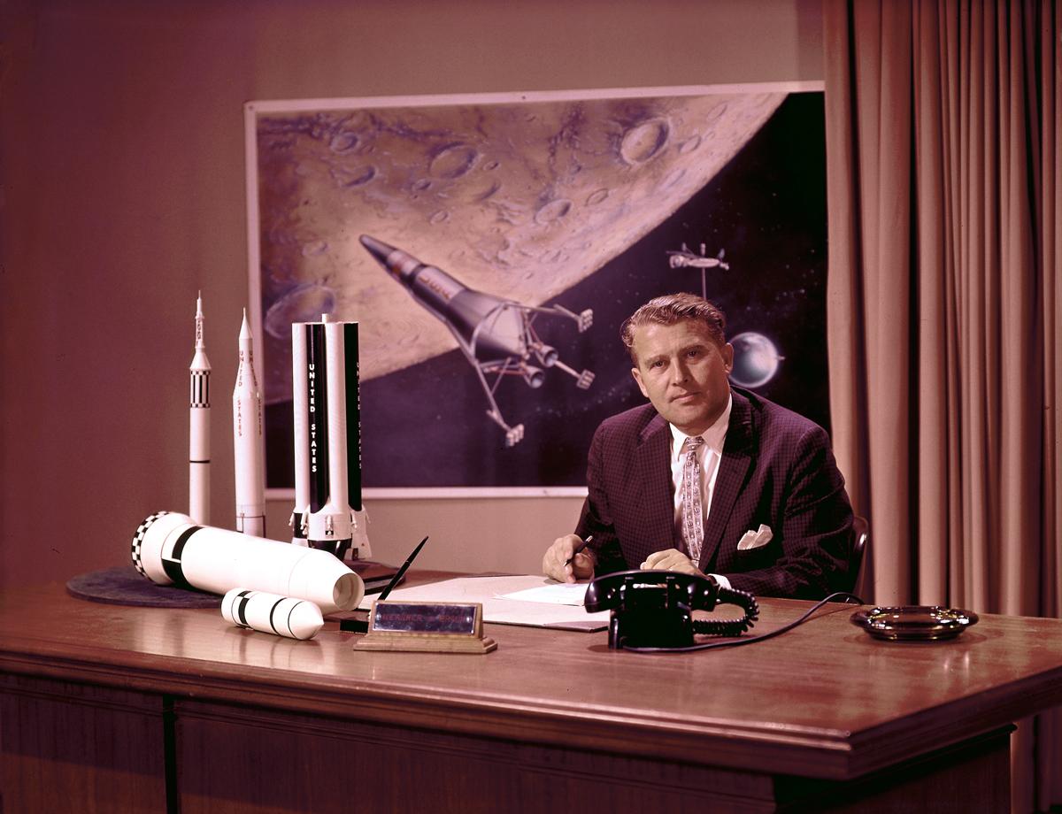 Dr. von Braun at His Desk
