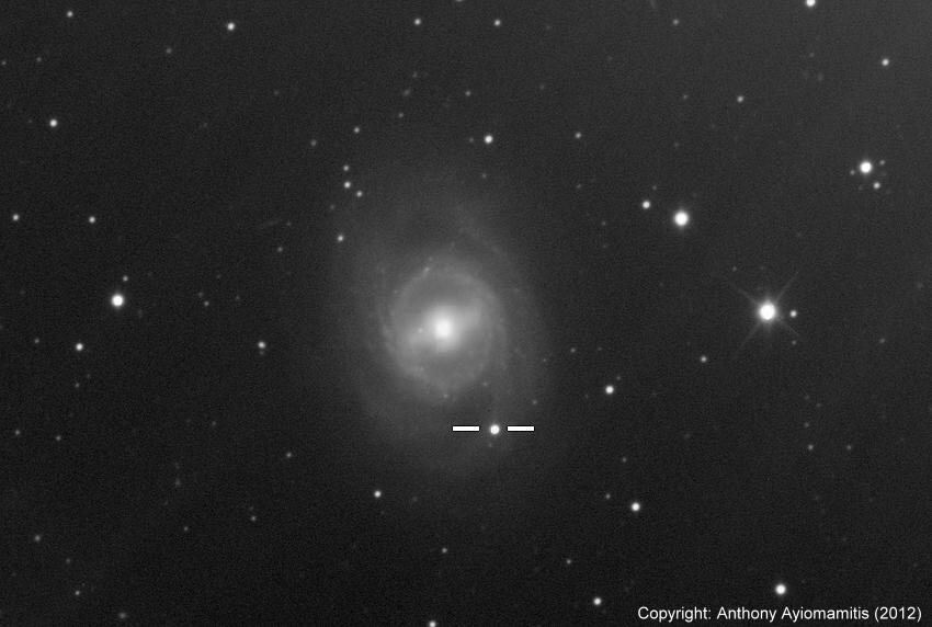 Supernova SN2012aw Seen from Athens, Greece
