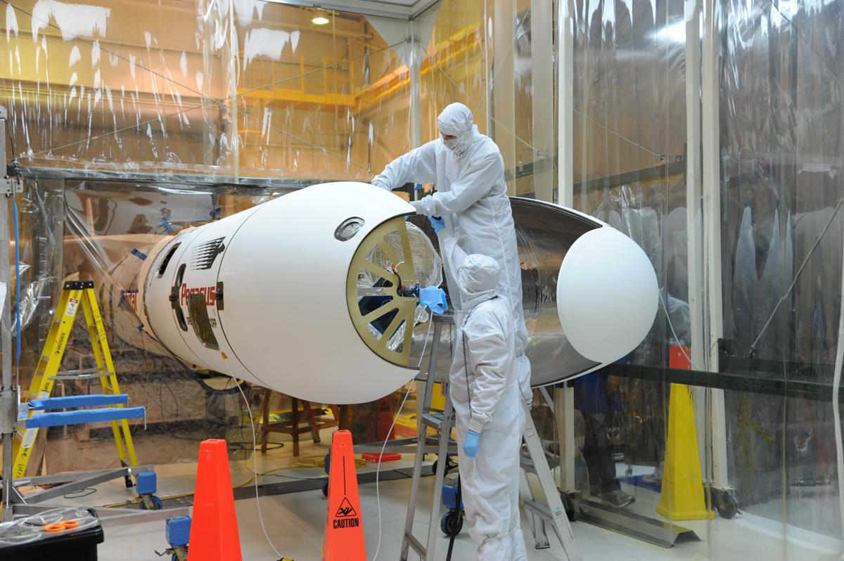 NuSTAR Satellite Fairing Installation