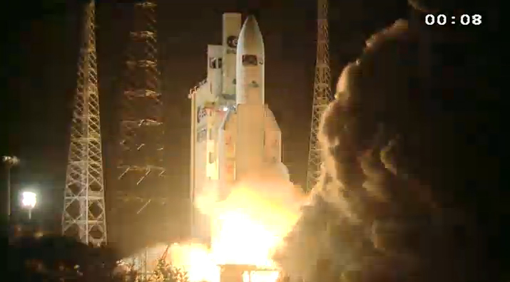 Europe Launches Giant Cargo Ship Toward Space Station