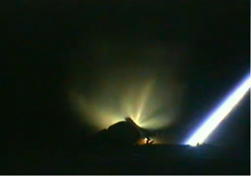 ATV-3 Spaceship Launch: Upper Stage Ignition