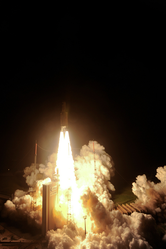 On Friday, March 23, 2012, Ariane 5 VA205 with the third Automated Transfer Vehicle Edoardo Amaldi lifted off from Europe's Spaceport in French Guiana.