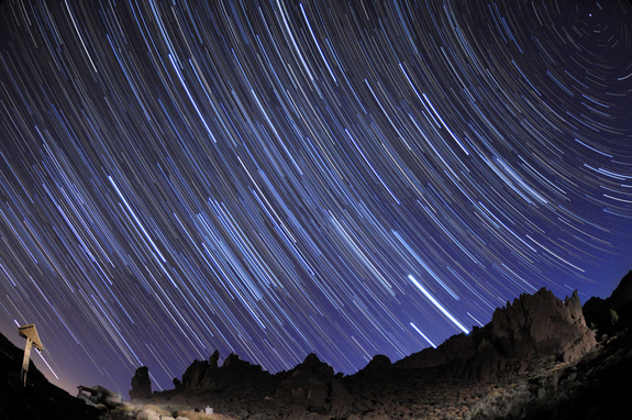 Skywatcher Roberto Porto took this shot in Teide national park, Tenerife, Spain, on March 26, 2012.