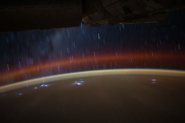 Star Trails Seen from the ISS #4