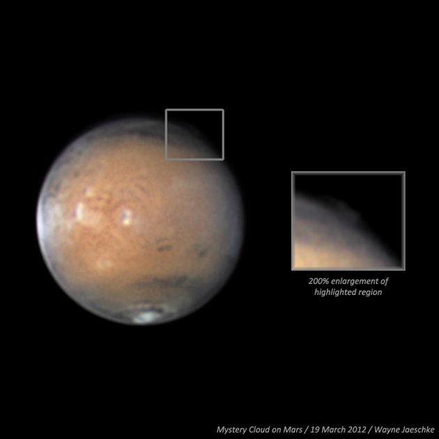 Mystery Cloud Appears on Mars