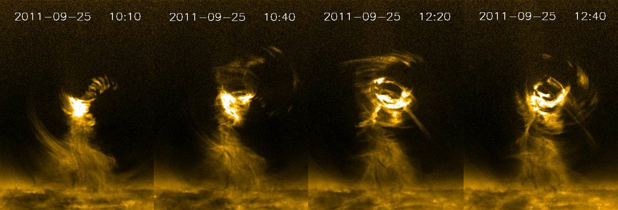 Huge 'Solar Tornado' Twists Across Sun's Surface in New Video