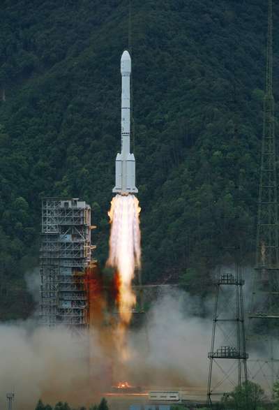 Chinese Rocket Launches Communications Satellite Into Space