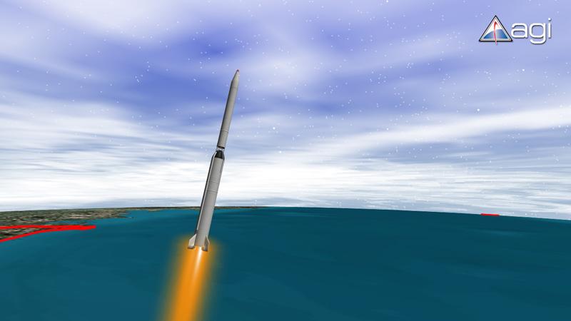 North Korean's Unha-2 Rocket Streaks Skyward
