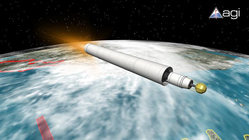North Korea's Unha-2 Rocket in Space