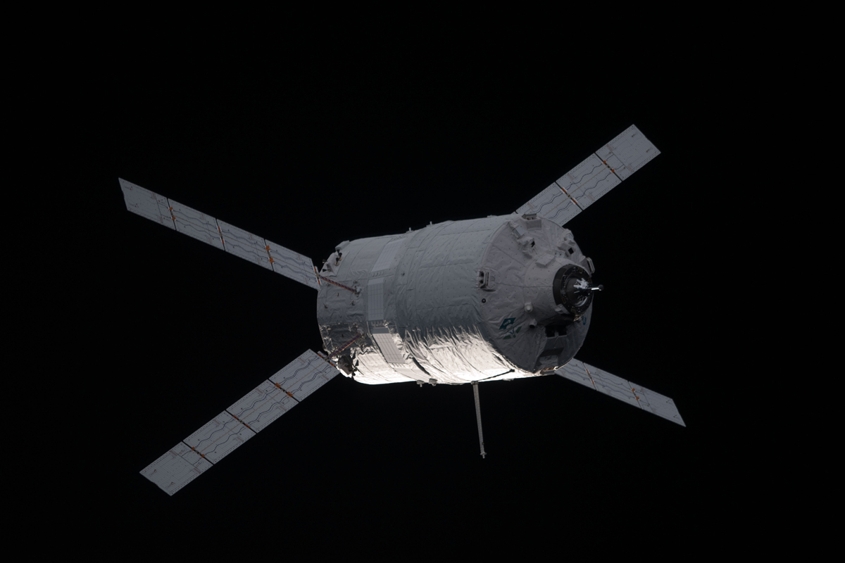 ATV-3 Nearing the International Space Station