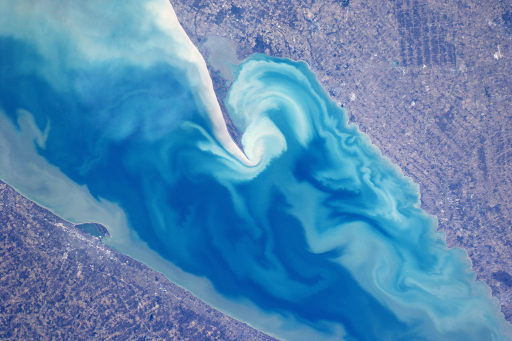 Beautiful Wave Patterns off Lake Erie Near Canada