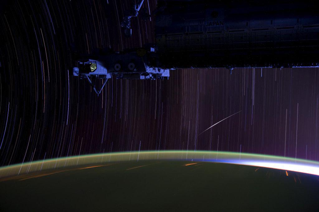 Iridium Satellite Flash and Star Trails