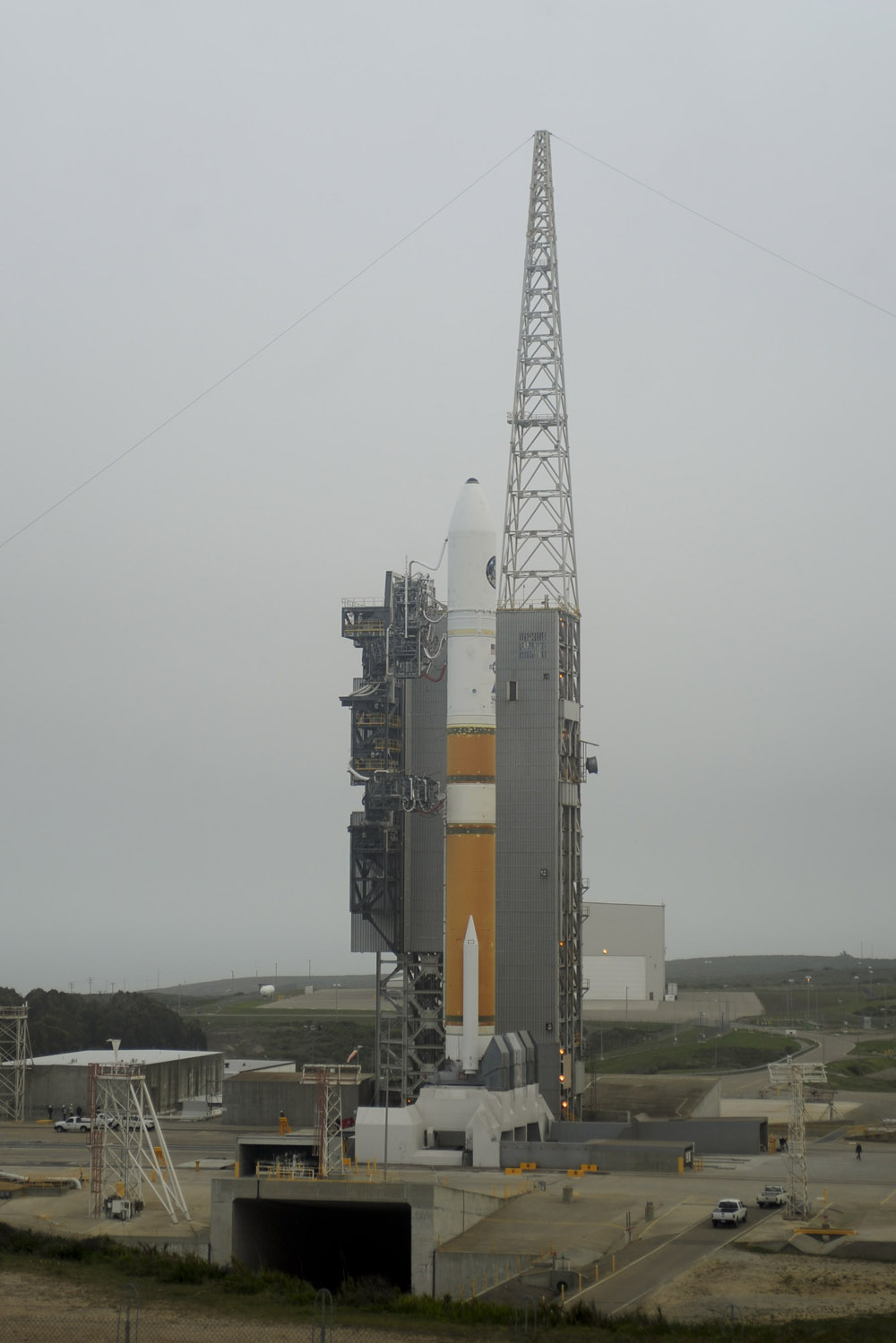 Spy Satellite NROL-25 on Launch Pad
