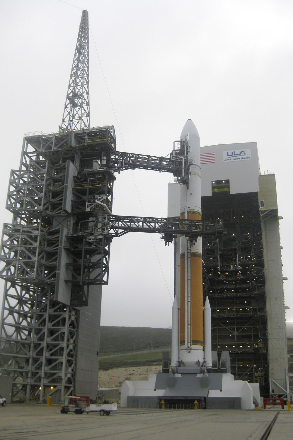 Spy Satellite NROL-25: Vertical at the Pad