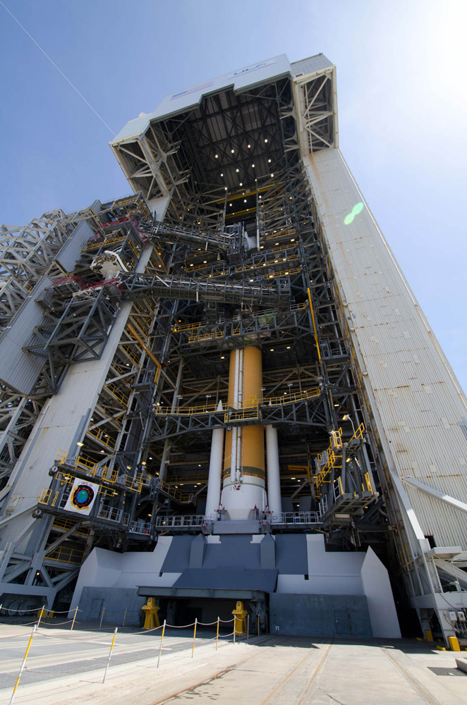 Delta 4 Rocket with NROL-25 Satellite in the Mobile Service Tower