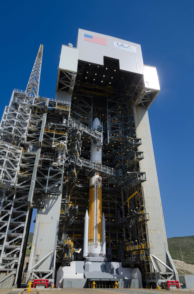 Delta 4 Rocket with NROL-25 Satellite in Sunlight