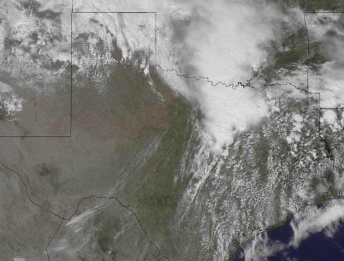 Devastating Texas Tornadoes Seen by Satellite
