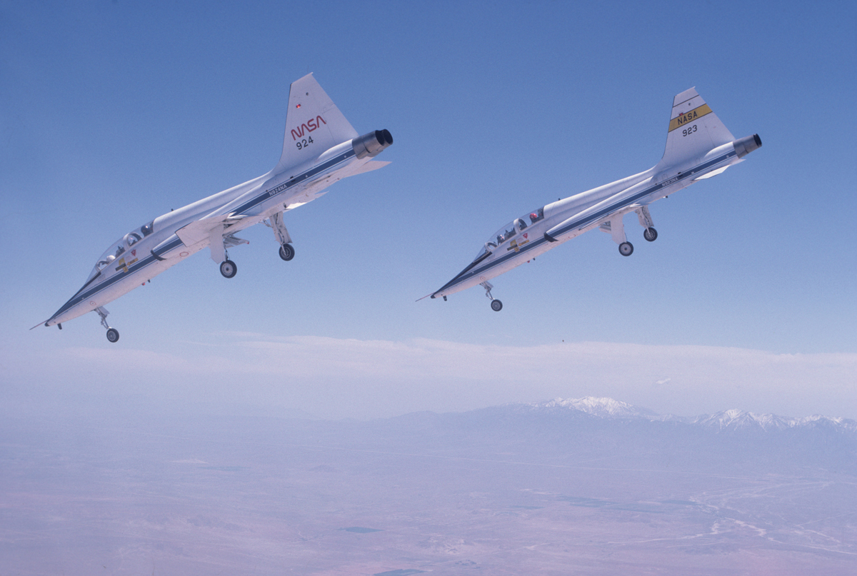 Two T-38 Jets Dive