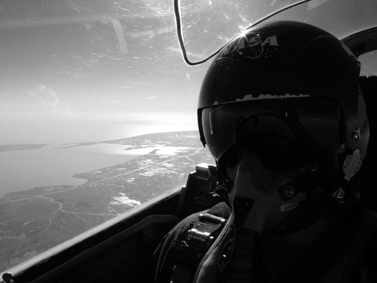 Astronaut Terry Virts Piloting T-38 Jet