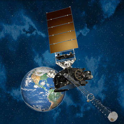 An artist's concept of GOES R.