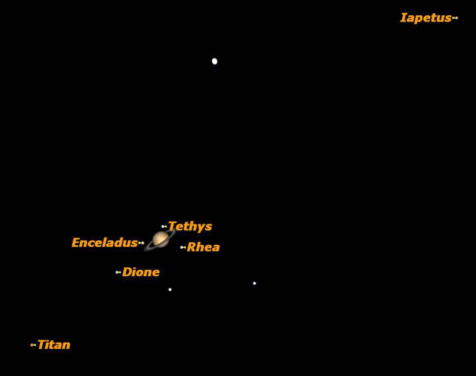 Saturn at Opposition Sky Map April 15, 2012