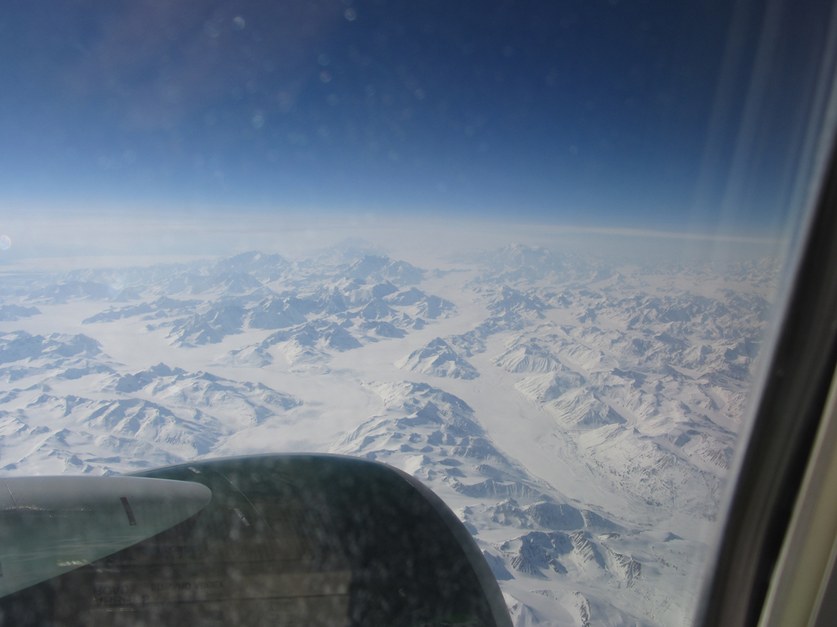 Yukon Mountains Seen from the Air