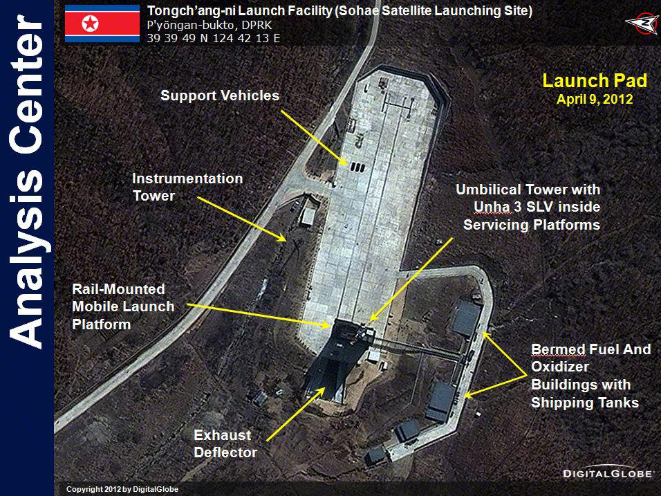 Satellite Image of North Korea Launch Pad