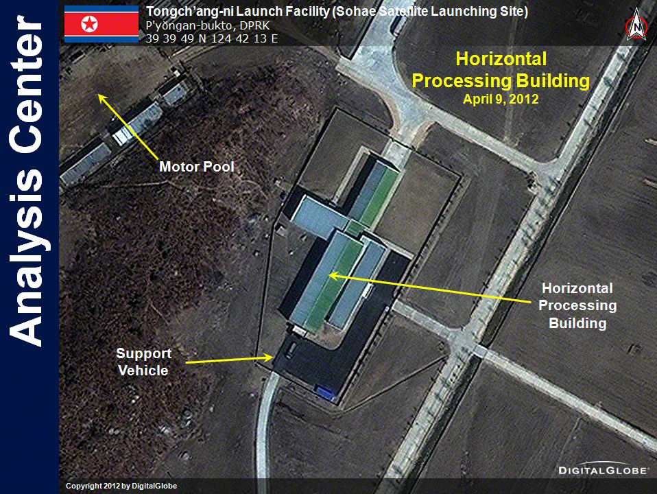 North Korea Rocket Launch Site Seen From Space