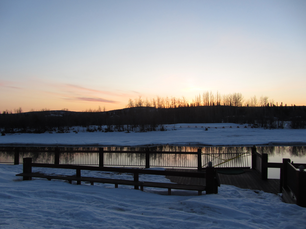 Sunset in Fairbanks, Alaska