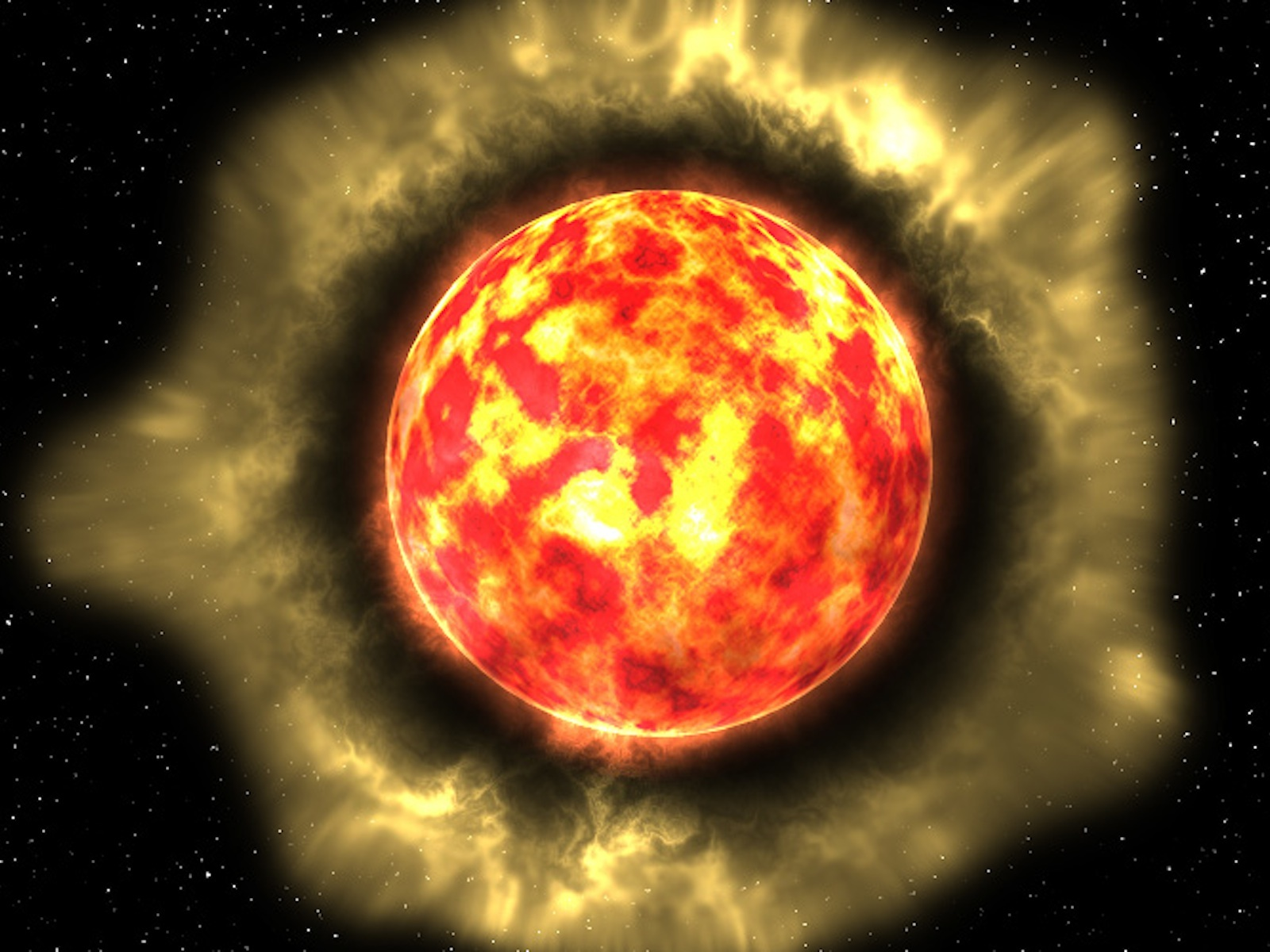 Dust Around a Giant Red Star