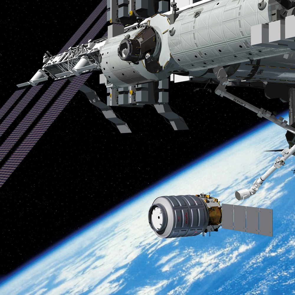 Private Cygnus Spacecraft's 1st Space Station Arrival ...